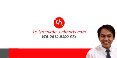 Penerjemah Tersumpah di Tangerang 08128490574 callharis.com